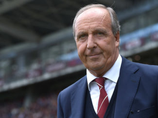 TURIN, ITALY - APRIL 24:  Torino FC head coach Giampiero Ventura looks on during the Serie A match between Torino FC and US Sassuolo Calcio at Stadio Olimpico Grande Torino on April 24, 2016 in Turin, Italy.  (Photo by Valerio Pennicino/Getty Images)